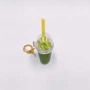 Green Tea (Matcha) with Whipped Cream (mini) Keychain - Fake Food Japan