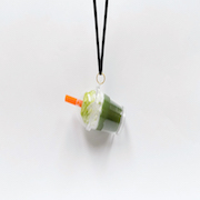 Green Tea (Matcha) with Whipped Cream (mini) Necklace - Fake Food Japan