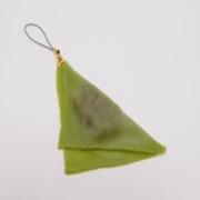 Green Tea (Matcha) Yatsuhashi Cell Phone Charm/Zipper Pull - Fake Food Japan