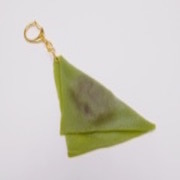 Green Tea (Matcha) Yatsuhashi Keychain - Fake Food Japan