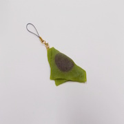 Green Tea (Matcha) Yatsuhashi (mini) Cell Phone Charm/Zipper Pull - Fake Food Japan