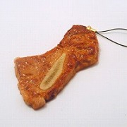 Grilled Chuck Steak with Bone Cell Phone Charm/Zipper Pull - Fake Food Japan
