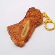 Grilled Chuck Steak with Bone Keychain - Fake Food Japan