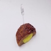 Hamburger Patty (Cheese-Filled) Card Stand - Fake Food Japan