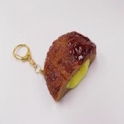 Hamburger Patty (Cheese-Filled) Keychain - Fake Food Japan