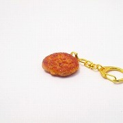 Hamburger Patty (small) Keychain - Fake Food Japan