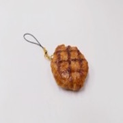 Hamburger Patty with Grill Marks Cell Phone Charm/Zipper Pull - Fake Food Japan