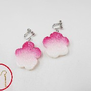 Hanafu (Flower Shaped Wheat Gluten) Pierced Earrings - Fake Food Japan