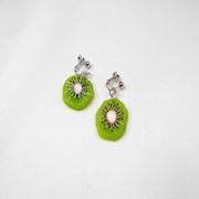 Kiwi Clip-On Earrings - Fake Food Japan