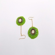 Kiwi Pierced Earrings - Fake Food Japan