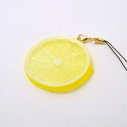 Lemon Slice Cell Phone Charm/Zipper Pull - Fake Food Japan