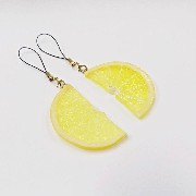 Lemon Slice (half-size) Cell Phone Charm/Zipper Pull - Fake Food Japan