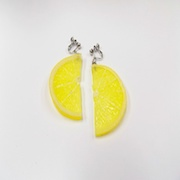 Lemon Slice (half-size) Clip-On Earrings - Fake Food Japan