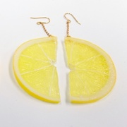 Lemon Slice (half-size) Pierced Earrings - Fake Food Japan