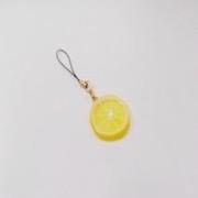 Lemon Slice (small) Cell Phone Charm/Zipper Pull - Fake Food Japan