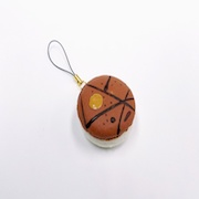 Macaron (brown coconut) Cell Phone Charm/Zipper Pull - Fake Food Japan