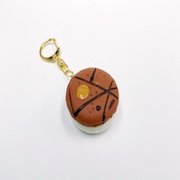 Macaron (brown coconut) Keychain - Fake Food Japan