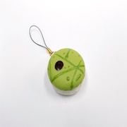 Macaron (green salad) Cell Phone Charm/Zipper Pull - Fake Food Japan