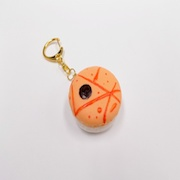 Macaron (orange papaya) Keychain - Fake Food Japan
