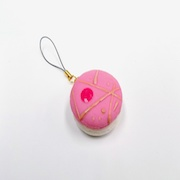 Macaron (pink cosmo) Cell Phone Charm/Zipper Pull - Fake Food Japan