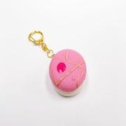 Macaron (pink cosmo) Keychain - Fake Food Japan