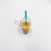 Mango Tapioca Drink (mini) Cell Phone Charm/Zipper Pull - Fake Food Japan