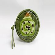 Matcha (Green Tea) Roll Cake Circular Purse - Fake Food Japan