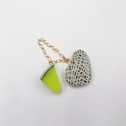 Melon & Melon (Heart-Shaped) (large) Bag Charm - Fake Food Japan