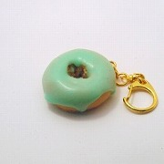 Melon Frosted Chocolate Doughnut (small) Keychain - Fake Food Japan