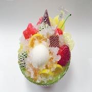 Melon Kakigori (Snow Cone/Shaved Ice) with Orange Sauce Replica - Fake Food Japan
