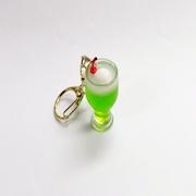 Melon Soda (mini) with Vanilla Ice Cream Keychain - Fake Food Japan