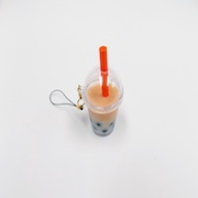 Milk Tea Tapioca Drink (mini) Cell Phone Charm/Zipper Pull - Fake Food Japan