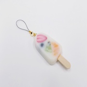 Mixed Fruit Ice Cream Bar Cell Phone Charm/Zipper Pull - Fake Food Japan