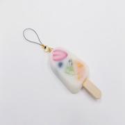 Mixed Fruit Ice Cream Bar Cell Phone Charm/Zipper Pull - Fake Food Japan