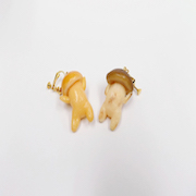 Mushroom Clip-On Earrings - Fake Food Japan