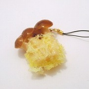 Mushroom Tempura Cell Phone Charm/Zipper Pull - Fake Food Japan