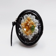Natto (Fermented Soybeans) & Rice Circular Purse - Fake Food Japan