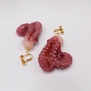 Octopus Ver. 1 Clip-On Earrings - Fake Food Japan