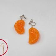 Orange Pierced Earrings - Fake Food Japan