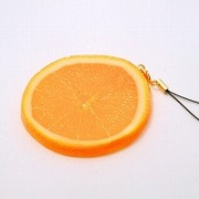 Orange Slice Cell Phone Charm/Zipper Pull - Fake Food Japan