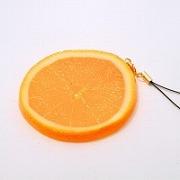 Orange Slice Cell Phone Charm/Zipper Pull - Fake Food Japan