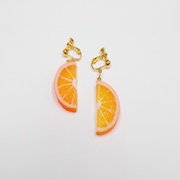 Orange Slice (half-size) Clip-On Earrings - Fake Food Japan