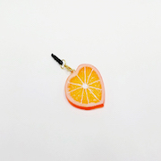 Orange Slice (Heart-Shaped) Headphone Jack Plug - Fake Food Japan