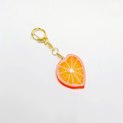 Orange Slice (Heart-Shaped) Keychain - Fake Food Japan