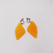 Orange Slice (quarter-size) Clip-On Earrings - Fake Food Japan