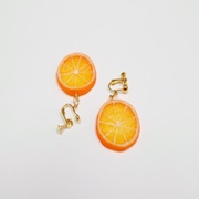 Orange Slice (small) Clip-On Earrings - Fake Food Japan