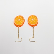 Orange Slice (small) Pierced Earrings - Fake Food Japan