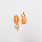 Peeled Orange (quarter-size) (mini) Clip-On Earrings - Fake Food Japan