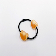 Peeled Orange (quarter-size) (mini) Hair Band (Pair Set) - Fake Food Japan