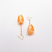 Peeled Orange (quarter-size) (mini) Pierced Earrings - Fake Food Japan